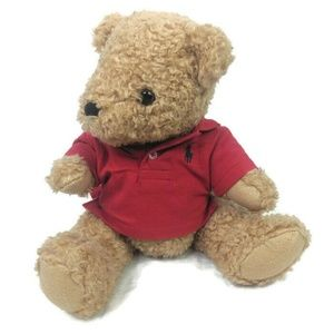 Ralph Lauren Teddy Bear Plush Red Polo Shirt